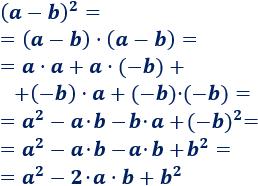 Explicamos cómo calcular el cuadrado de una suma y de una resta: (a+b)^2 = a^2 + 2ab + b^2 y (a-b)^2 = a^2 -2ab + b^2. Con ejemplos y problemas resueltos. Álgebra. Matemáticas. Secundaria.