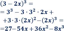 Explicamos cómo calcular el cubo de una suma y de una resta: (a-b)^3 = a^3 + 3a^2b + 3ab^2 + b^3 y (a-b)^3 = a^3 -3a^2b + 3ab^2 + b^3. Con ejemplos y problemas resueltos. Álgebra. Matemáticas. Secundaria.