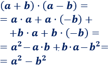 Suma por diferencia: (a+b)·(b-a) = a^2 - b^2. Demostramos la fórmula y proporcionamos algunos ejemplos. Matemáticas. Álgebra.