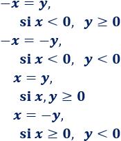 Definimos el valor absoluto y proporcionamos algunas propiedades, ejemplos y problemas resueltos. ESO. Álgebra básica.