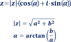 forma polar, binómica y trigonométrica