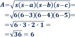 Proporcionamos dos fórmulas para calcular el área de un triángulo, con ejemplos y problemas resueltos. Perímetro y semiperímetro. Geometría plana. Matemáticas. Secundaria. ESO.