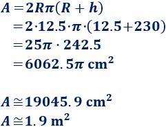 Calculadoras online para calcular el área y el volumen de un cilindro recto y oblicuo. Con fórmulas y problemas resueltos. ESO. Secundaria. Geometría. Matemáticas