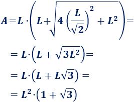 Calculadora del área y volumen del sólido de Johnson J₁. También, definimos la pirámide J₁, calculamos su altura en función del lado de la base y demostramos las fórmulas del área y volumen. Geometría. Secundaria. Bachillerato. Calculadora online.