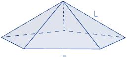 Área y volumen de la pirámide pentagonal