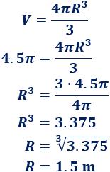 Calculadoras del área y volumen de una esfera (calcular área y volumen a partir del radio, calcular radio y volumen a partir del área y calcular radio y área a partir del volumen). La esfera como superficie y sólido de revolución. Fórmulas y problemas resueltos. Geometría del espacio. Matemáticas. Secundaria y bachillerato.