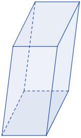 Calculadoras online del área y volumen del prisma cuadrangular o rectangular y romboidal. También, definimos prisma cuadrangular (y romboidal) recto y oblicuo y demostramos las fórmulas de su área y volumen. Matemáticas. Geometría.