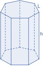 Área y volumen del prisma heptagonal regular