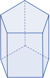 Área y volumen del prisma pentagonal regular