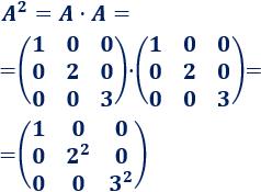 Calculamos potencias enésimas de matrices que siguen un patrón. Bachillerato. Universidad. Matemáticas.