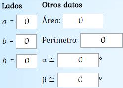 Calculadora online para calcular la hipotenusa o un cateto de un triángulo rectángulo (viendo las operaciones). También calcula el perímetro, el área y los ángulos no rectos.
